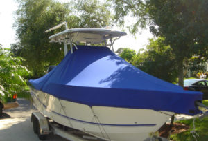Boat Canvas; covered with a canvas cover